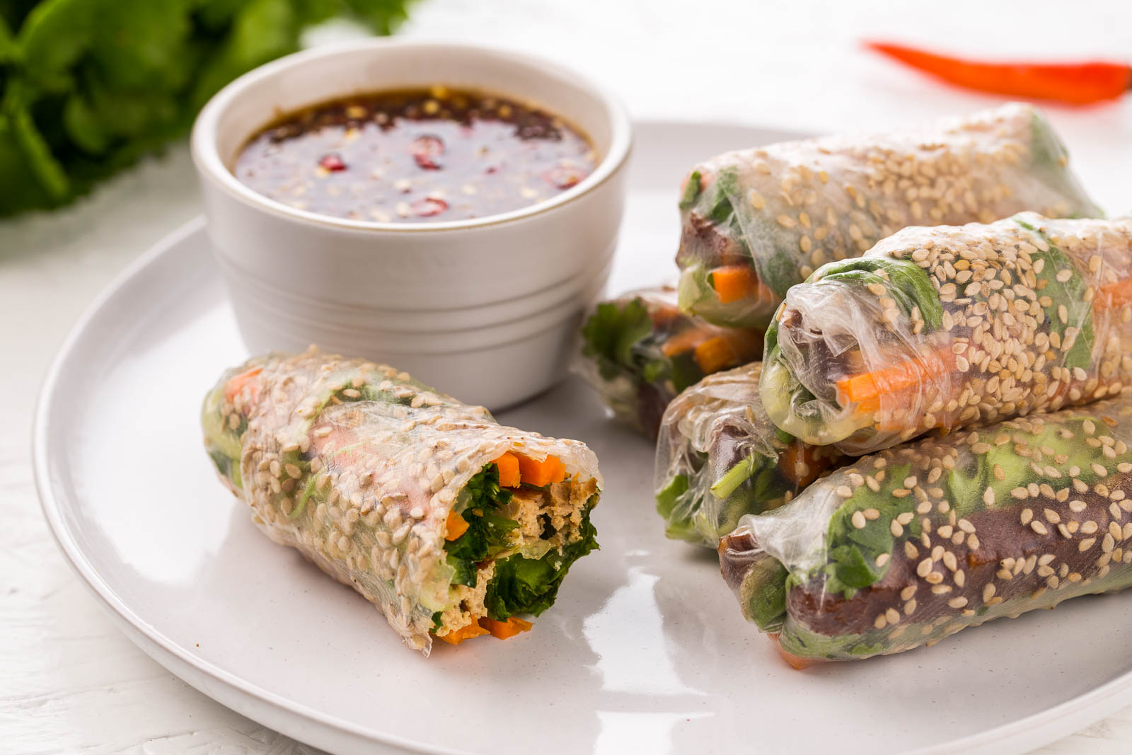 Yoo Food: Tofu & Vegetable Spring Rolls