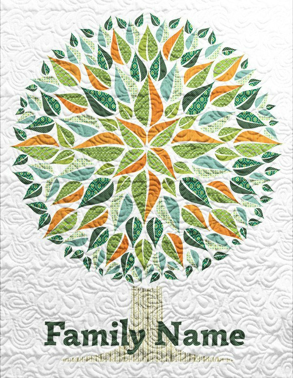 Family Quilt customized with your name by STITCHED featured on Walking on Sunshine