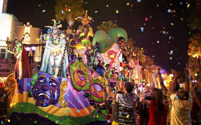 Universal Studios Orlando Florida Mardi Gras 2019