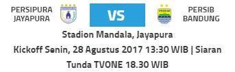 Siaran Tunda Persipura Jayapura vs Persib Bandung