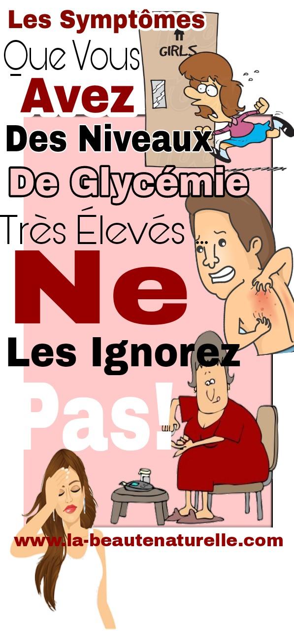 Les symptômes que vous avez des niveaux de glycémie très élevés ... Ne les ignorez pas!