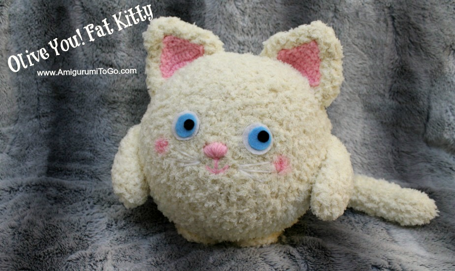 Free Amigurumi Pillow Patterns : Olive You! Fat Kitty ~ Amigurumi Pillow ~ Amigurumi To Go