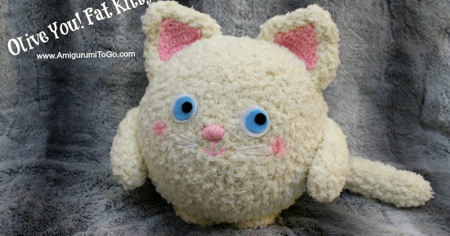 Olive You! Fat Kitty ~ Amigurumi Pillow ~ Amigurumi To Go