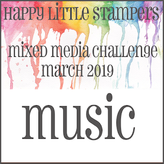 Happy Little Stampers Mixed Media Challenge_music