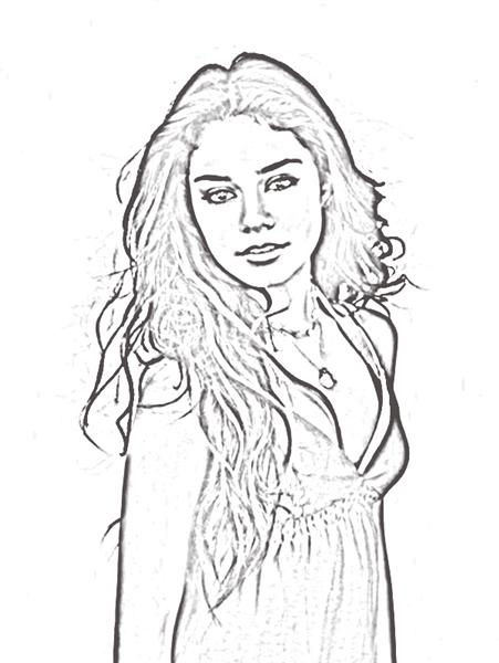 Cartoons Coloring Pages High School Musical Coloring Pages