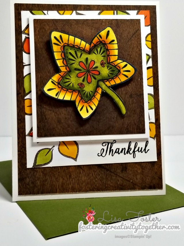 #falling for leaves #fall #thanksgiving #stampinblends #stampinup #lisafoster