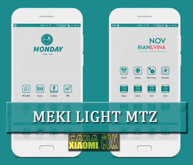 Tema Xiaomi Meki Light Mtz Theme For MIUI Update Fix [NEW]