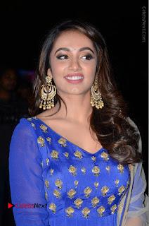 Telugu Actress Tejaswi Madivada Pos in Blue Long Dress at Nanna Nenu Na Boyfriends Audio Launch  0019.JPG