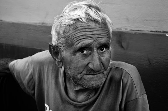 portrait, black and white, photography, contemporary, old man, street photography,