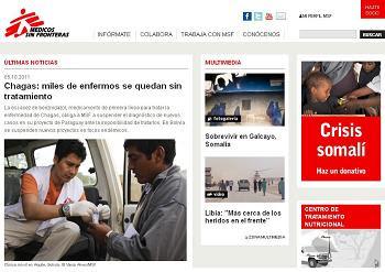 La ONG Médicos sin fronteras en el blog de ayuda humanitaria