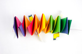 How to Make Paper Slinkie Dancing Dragons for Chinese New Year Kids Craft