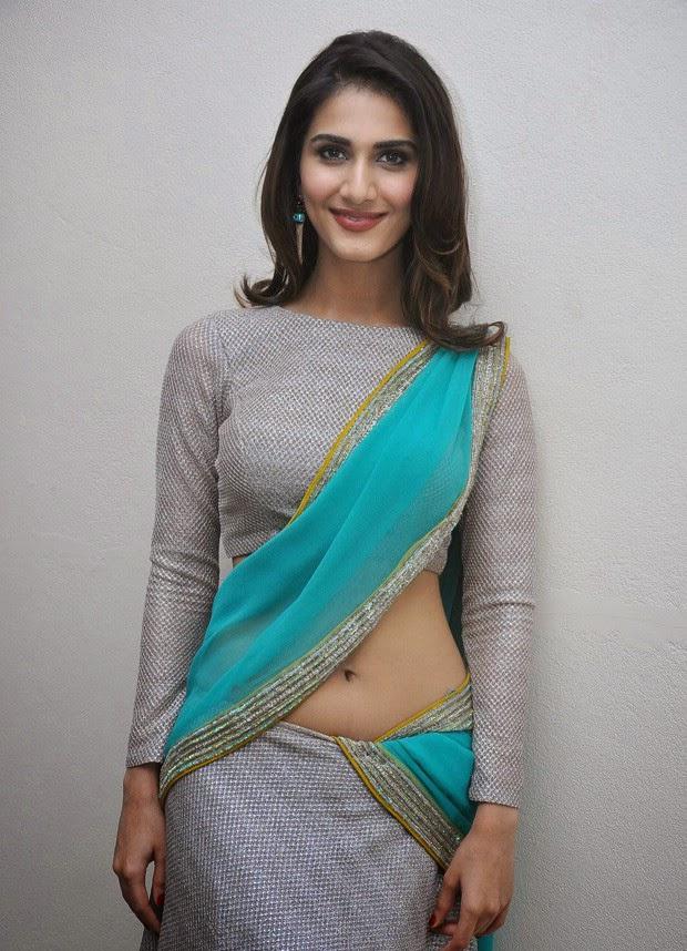 indian busty actress vani kapoor hot in saree pallu drop