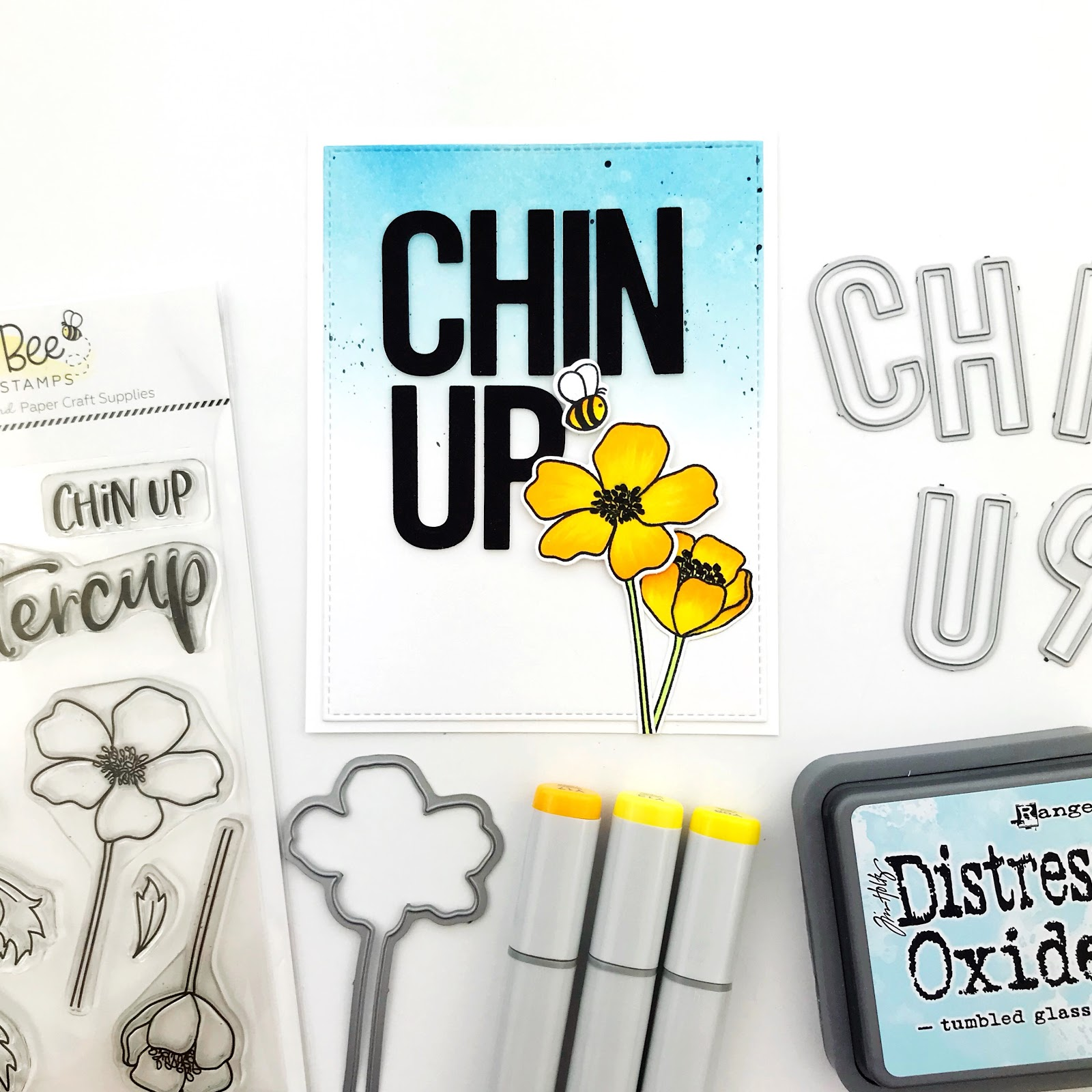 Honey Bee Sneak Peeks Continue Today I Want To Show You Two Sets Im Super Excited AboutBee Bold Alpha Dies And The Chin Up Buttercup Stamps