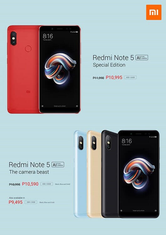 Xiaomi Redmi Note 5 Now More Affordable!