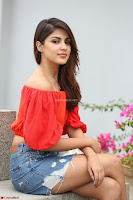 Rhea Chakraborty in Red Crop Top and Denim Shorts Spicy Pics ~  Exclusive 336.JPG