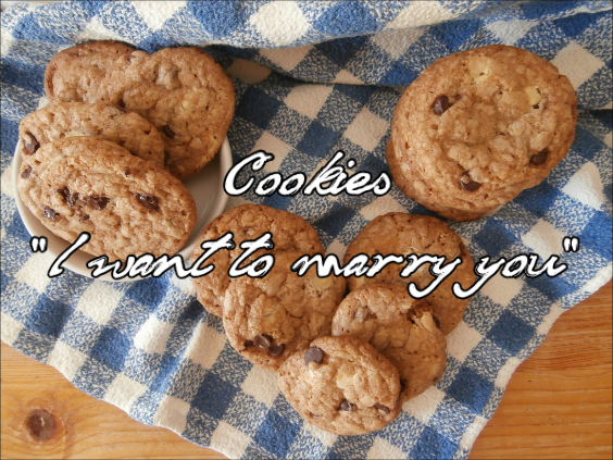 Video receta de cookies I want to marry you de chocolate blanco y negro