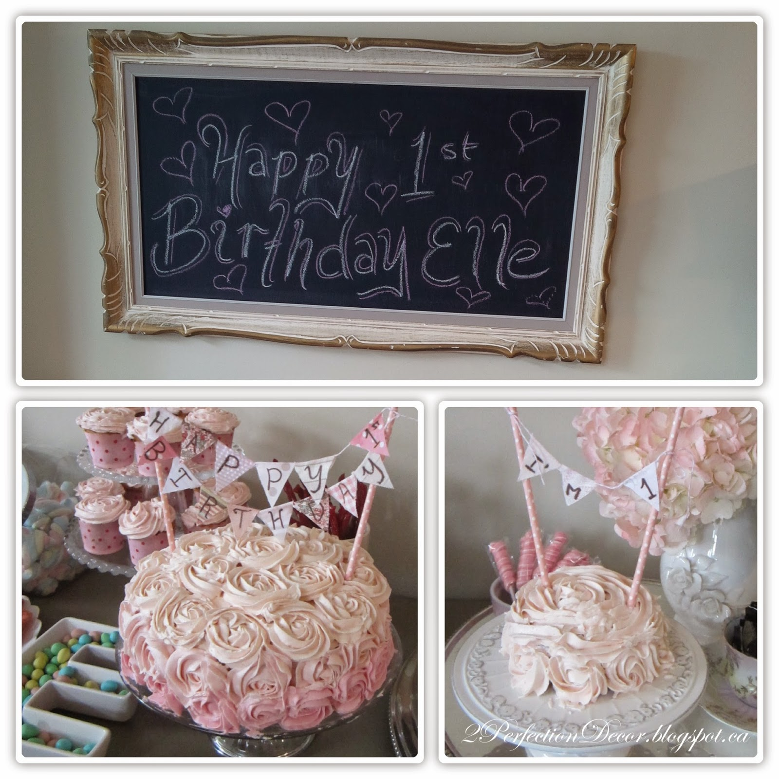 2perfection Decor Shabby Chic 1st Birthday Party