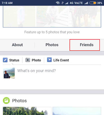 Facebook profile friends