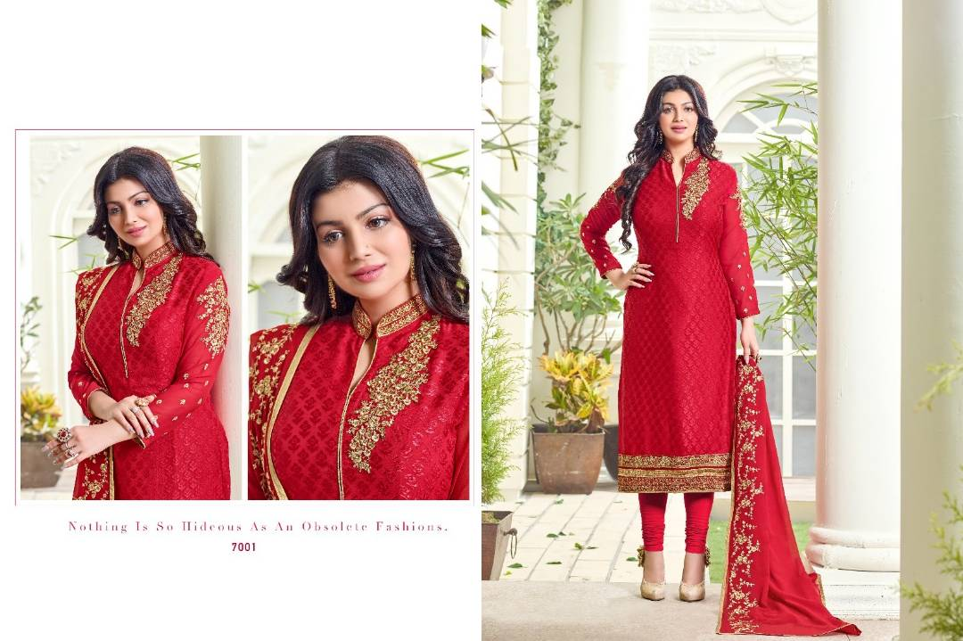 Aayesha Vol 7 – Exclusive Heavy Brasso With Embroidery Salwar Kameez
