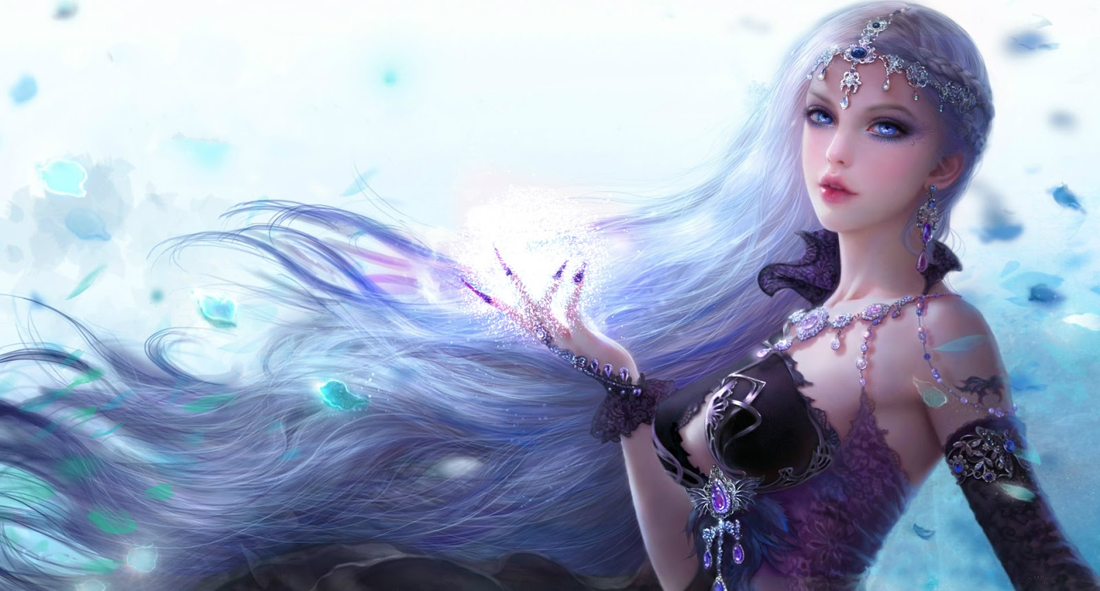 Fantasy Princess Fantasy Girl Free Animated Wallpaper.