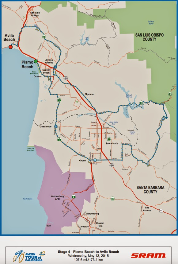 Tour of California Stage 4 Map 2015