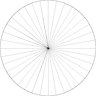 Circle divided in 36ths
