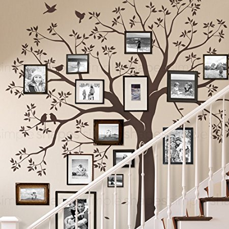 Lovely Staircase Family Tree Wall Decal