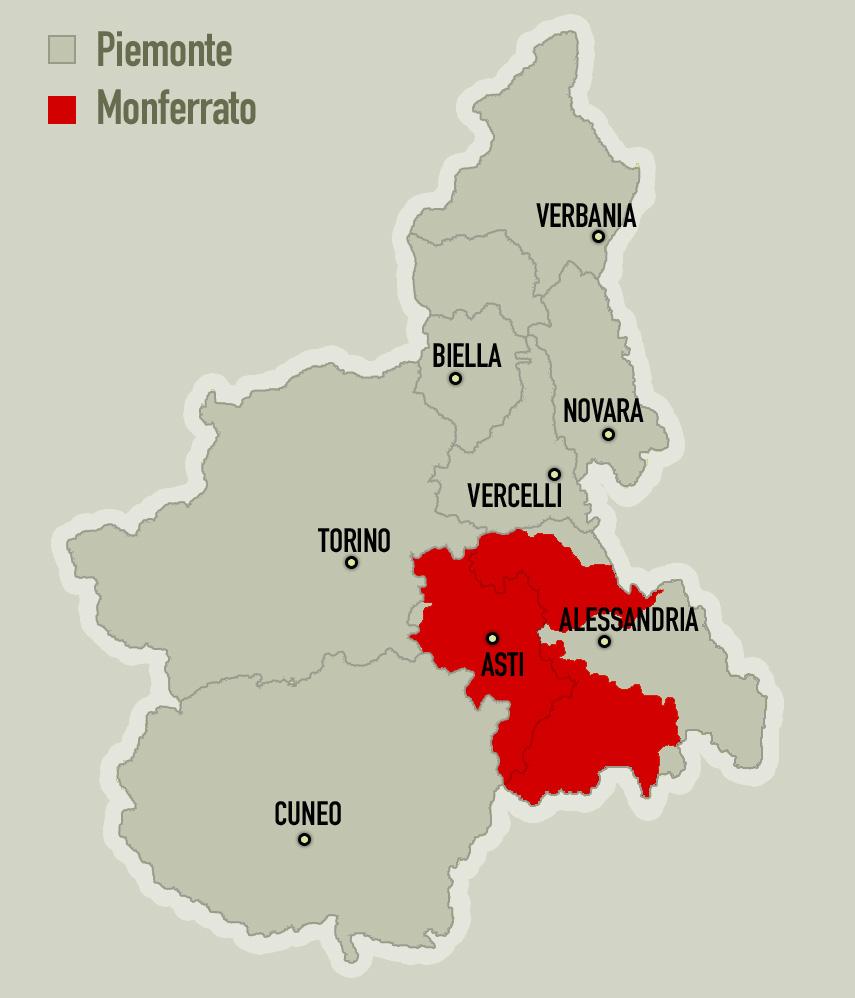 Cartina Dettagliata Piemonte.Alto Monferrato Land Of Values