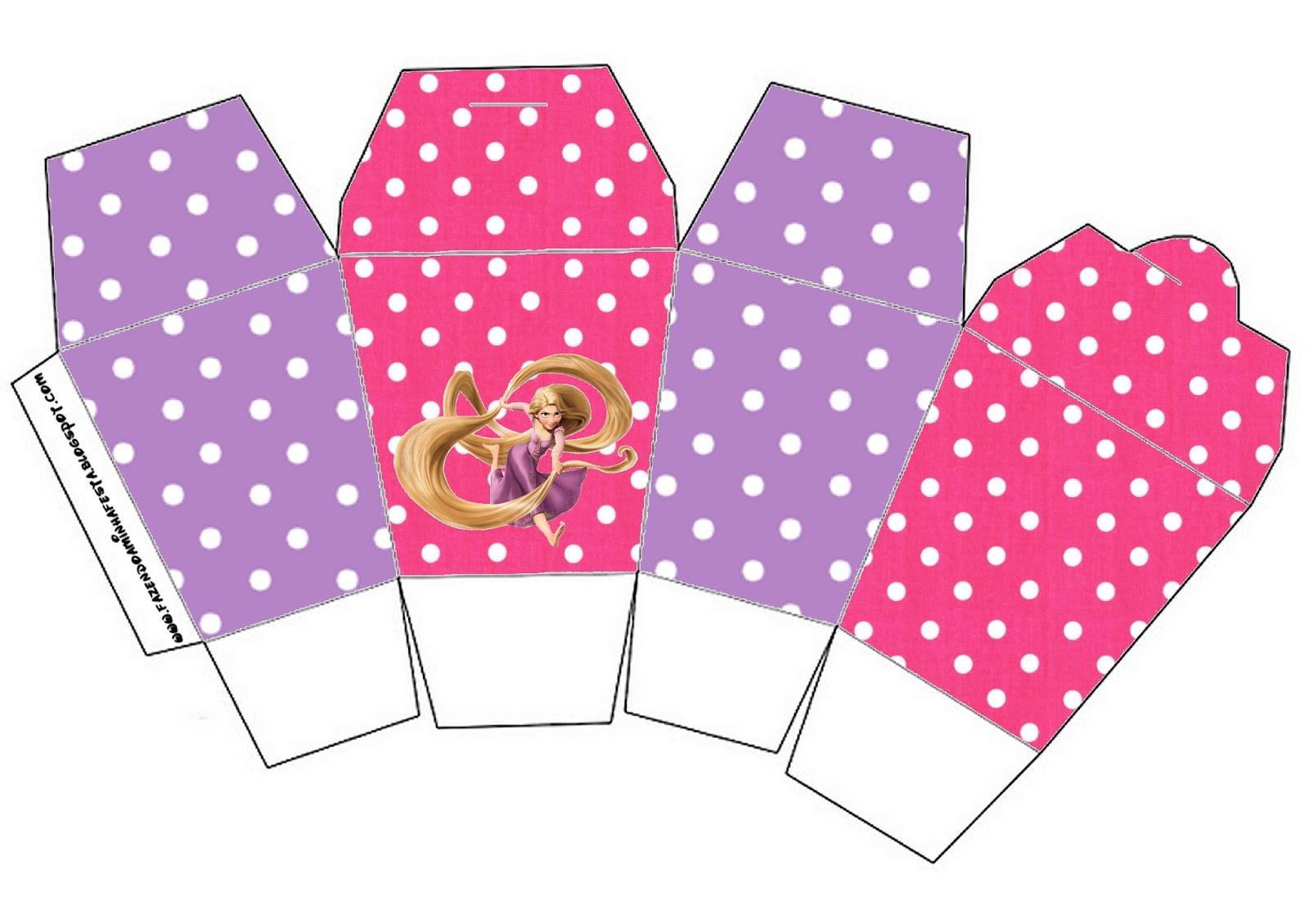 Tangled Rapunzel Free Printable Favor Boxes
