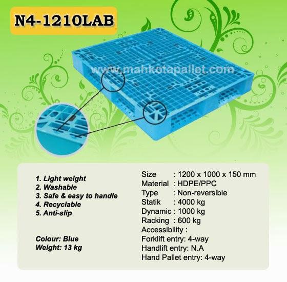 Pallet Plastik N4-1210LAB