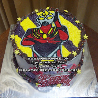 Birthday Cake Ultraman Buttercream