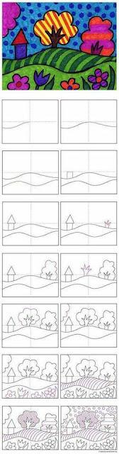 Belajar menggambar pemandangan untuk anak-anak