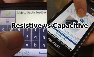Differences between capacitive and resistive