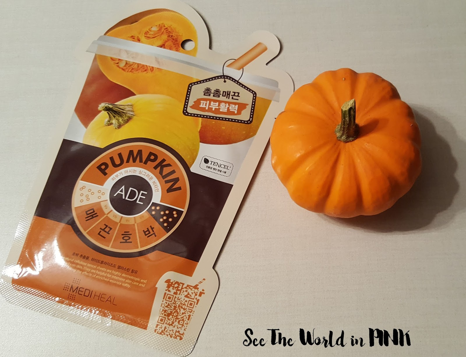 Mask Wednesday - Mediheal Pumpkin Ade Mask