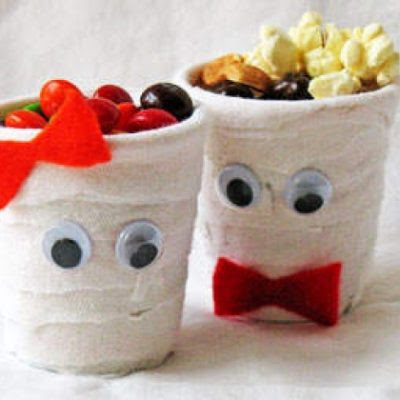 Halloween Mummy Candy Holders