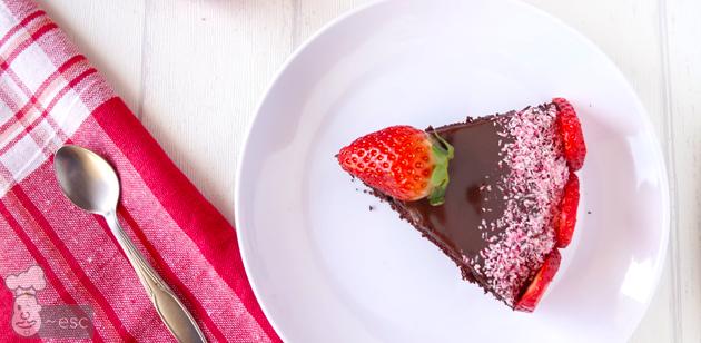 tarta de chocolate con glaseado de nutella fácil