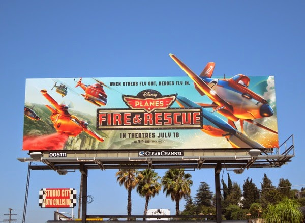 Disney Planes Fire Rescue movie billboard