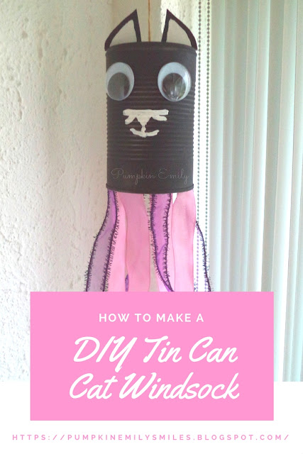 DIY Tin Can Cat Windsock
