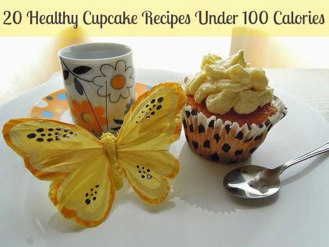 Healthy Cupcake Recipes Under 100 Calories | Becky Cooks Lightly #healthycupcakes