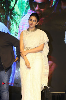Actress Rakul Preet Singh Stills in White Dress at Winner Pre Release Function  0036.jpg