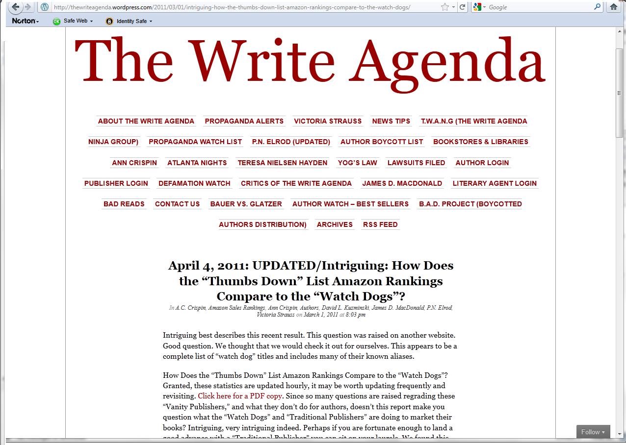 how to write an agenda