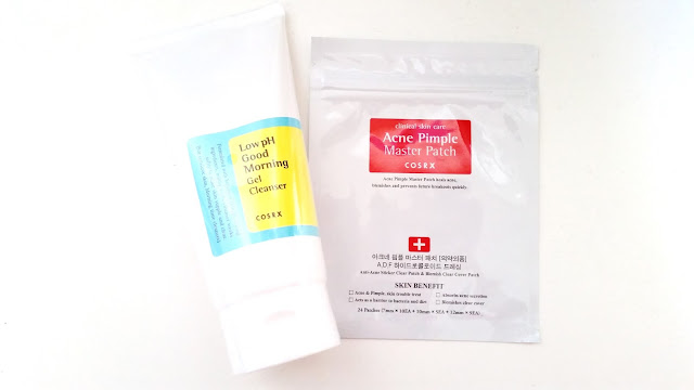 Cosrx Low pH Good Morning Gel Cleanser and Cosrx Acne Pimple Master Patch