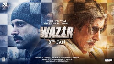 Bollywood Movie Wazir Lakonan Amitabh Bachchan, Farhan Akhtar, Aditi Rao Hydari