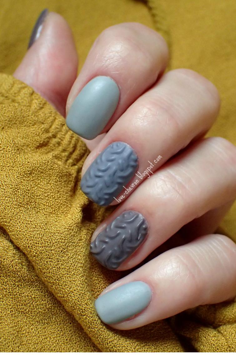 sweterkowe paznokcie wzory