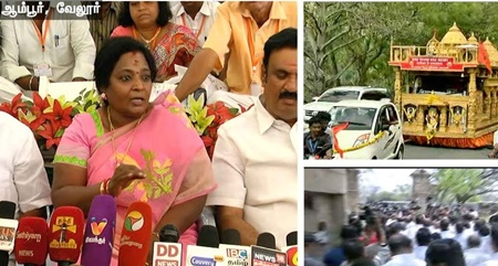Tamilisai addressing reporters on the opposition for Ram Rajya Rath Yatra | Details