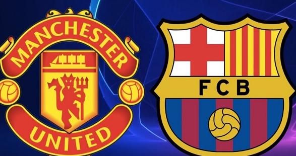 برشلونة يواجه مانشستر يونايتد ضمن منافسات الدوري الاوروبي.