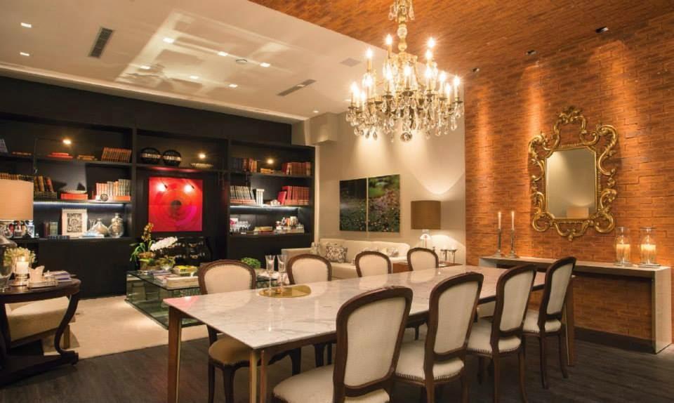 sala de jantar da casa & cia