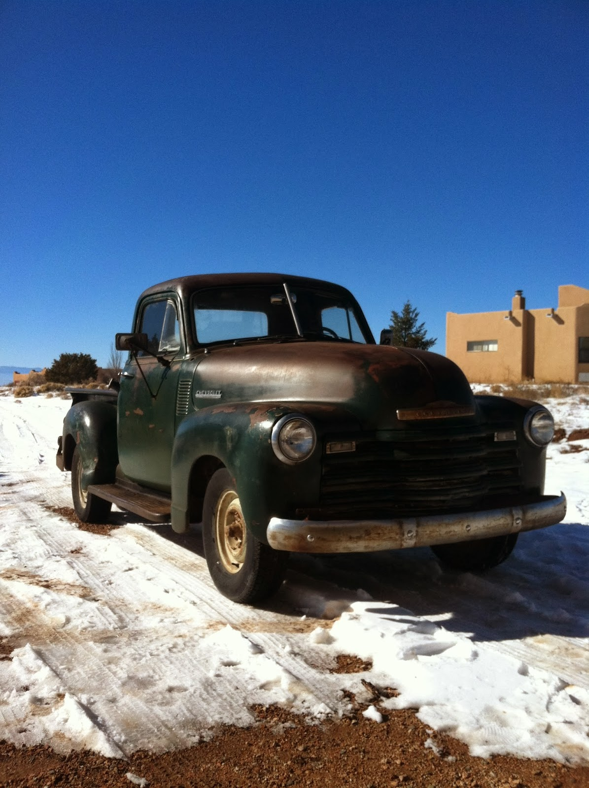 Autoliterate 1949 Chevrolet Truck New Mexico Snow 1942 Chevy Patina I Might Have Preferred The Barn Fresh But Admire His Old Man With An Oilcan Approach More Of These Advanced Design Era Trucks Here And