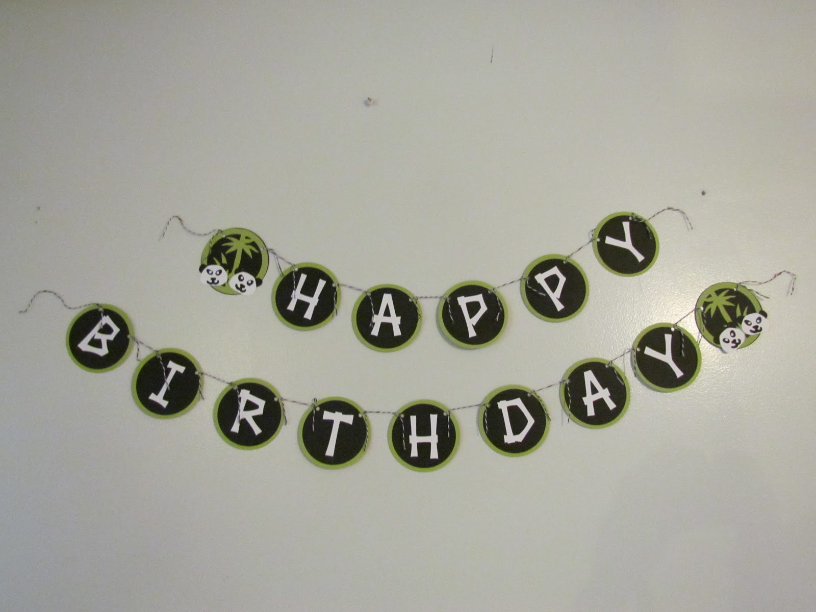 Hy Birthday Banner Panda And Bamboo Using Lifes A Beach Cricut Cartridge Pandas Are Hand Cut