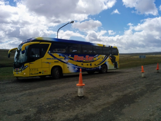 Bus-Sur from El Calafate Argentina to Puerto Natales Chile